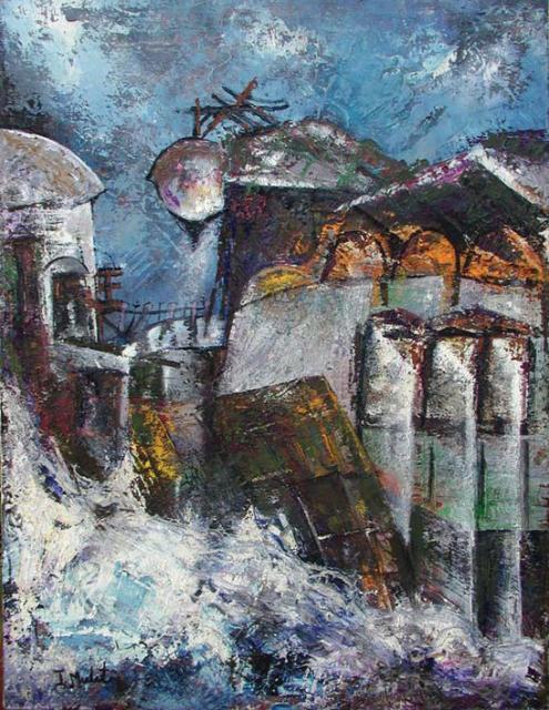 Tidal Waves – Oil/canvas (83 x 63 cm)