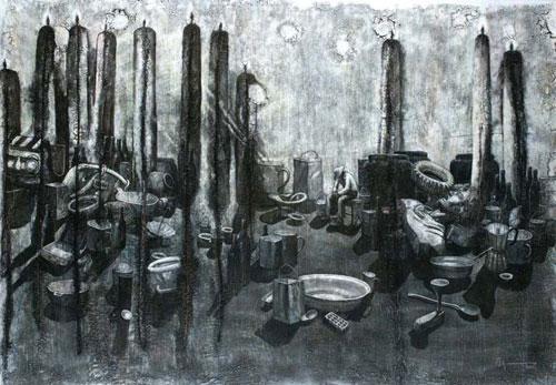 "- Image: ""The ritual of silence"" - Agustín Bejarano - Mixed/canvas"